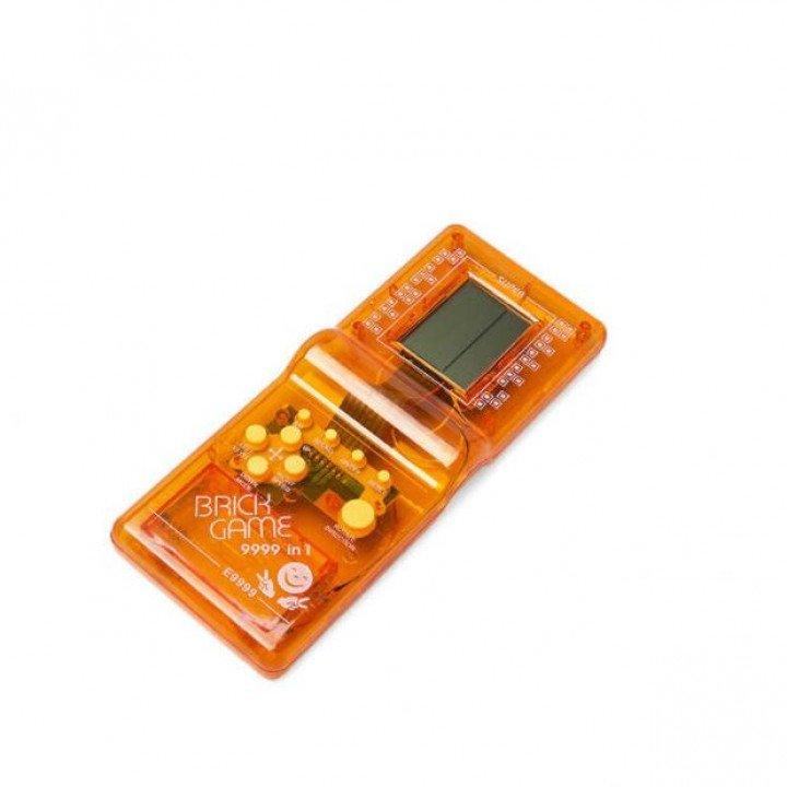 RoGer Elektroniskā spēle Tetris Caurspīdīgs - Oranžs spēļu konsole
