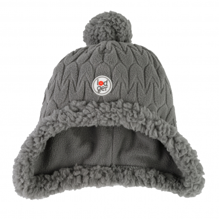 Lodger Hatter Empire Fleece cepure, 6-12 mēn., Sharkskin HT 601_6-12