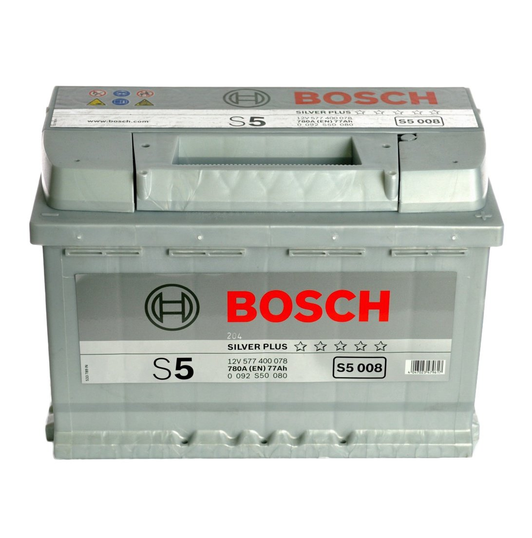Bosch S5, 12 V, 77 Ah, 780 A auto akumulators
