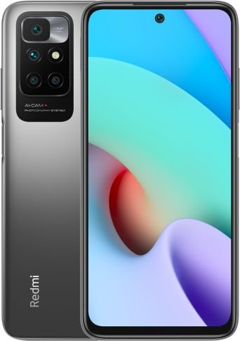 Smartfon Xiaomi Redmi 10 4/64GB Dual SIM Czarny  (35252) 35252 Mobilais Telefons