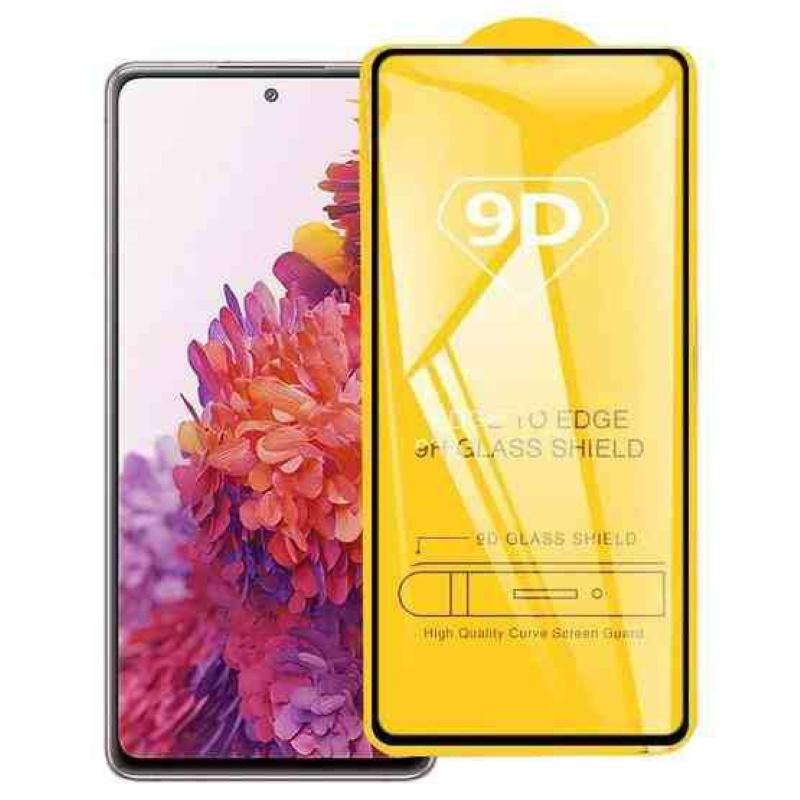 TakeMe 9D Hybrid Fleksibls Pilnas virsmas aizargstikls priekš Samsung Galaxy S20FE (G780F) Melns Rāmis aizsardzība ekrānam mobilajiem telefoniem