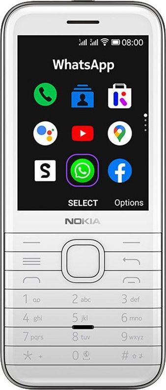 Nokia 8000 4G Dual-Sim white Mobilais Telefons