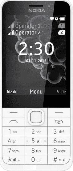 Nokia 230 Bialo-Srebrny (DualSIM) Mobilais Telefons