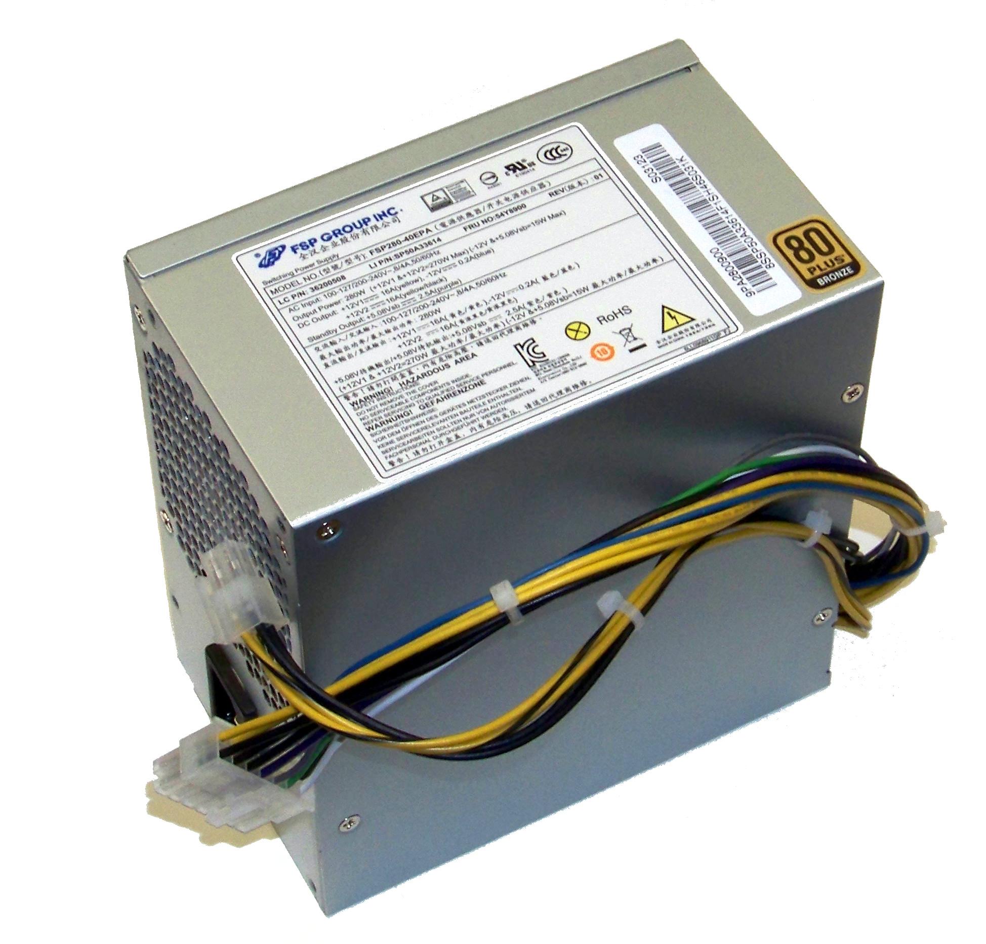 Lenovo 36200508 ThinkCentre Edge 73 280W Power Supply   FRU 54Y8900 Barošanas bloks, PSU