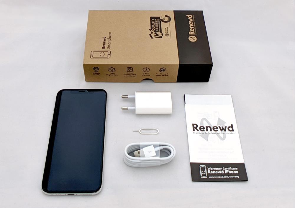 MOBILE PHONE IPHONE XS 64GB/SILVER RND-P12264 APPLE RENEWD RND-P12264 Mobilais Telefons