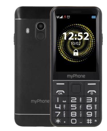 MyPhone HALO Q+ Dual black Mobilais Telefons