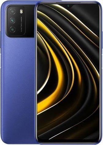 Xiaomi POCO M3 16.6 cm Dual SIM Android 10.0 4G USB Type-C 4 GB 64 GB 6000 mAh Blue Mobilais Telefons