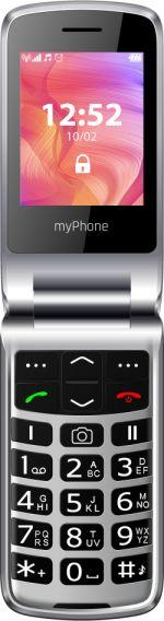Telefon komorkowy myPhone Rumba 2 Czarno-srebrny 7352327 Mobilais Telefons