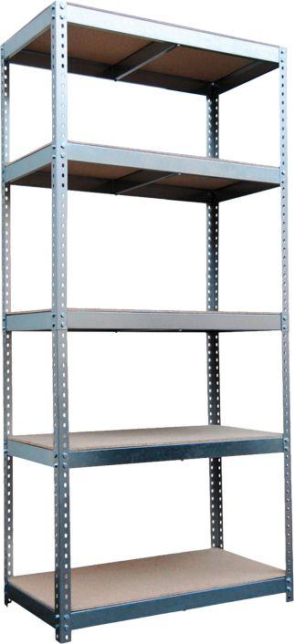 Metalkas Regal glabāšanas plaukts 180x120x40cm, pieskrūvēts kopā, 5 plaukti 200kg (STABIL200PLUS)