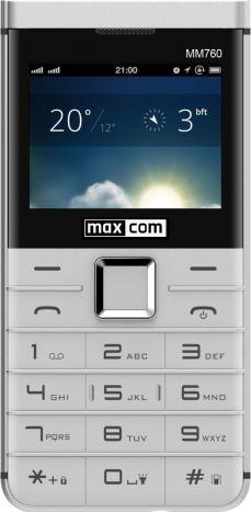 Mobile phones MaxCom MM 760 DUAL SIM WHITE Mobilais Telefons