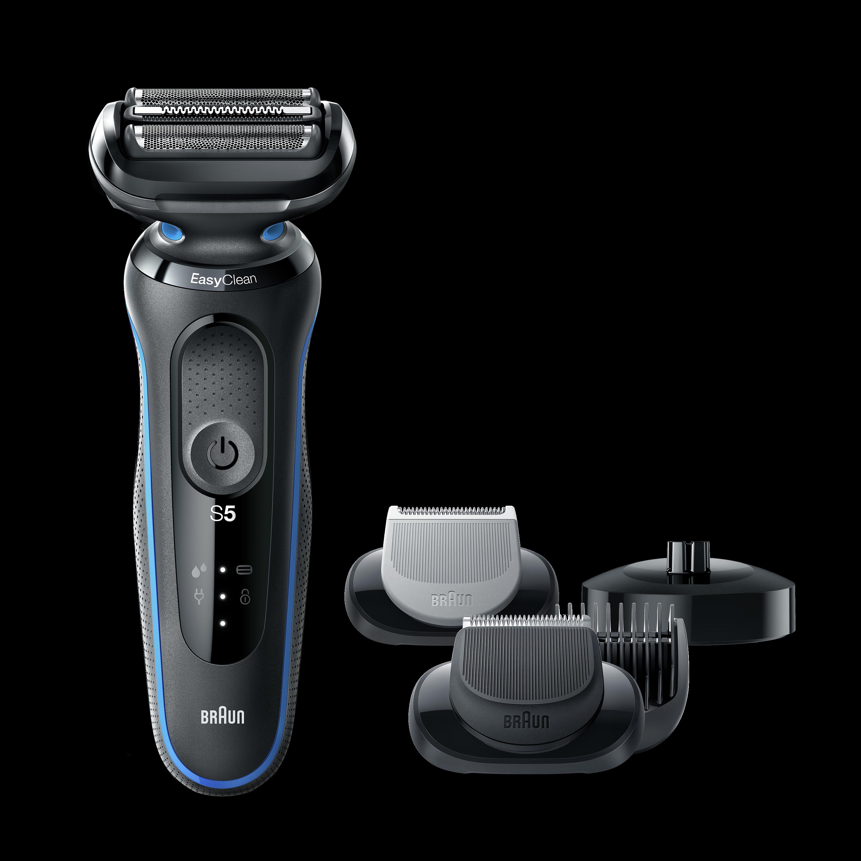 Braun Shaver 50-B4650cs Cordless, Charging time 1 h, Lithium Ion, Number of shaver heads/blades 3, Black/Blue, Wet & Dry 4210201242055 Vīriešu skuveklis