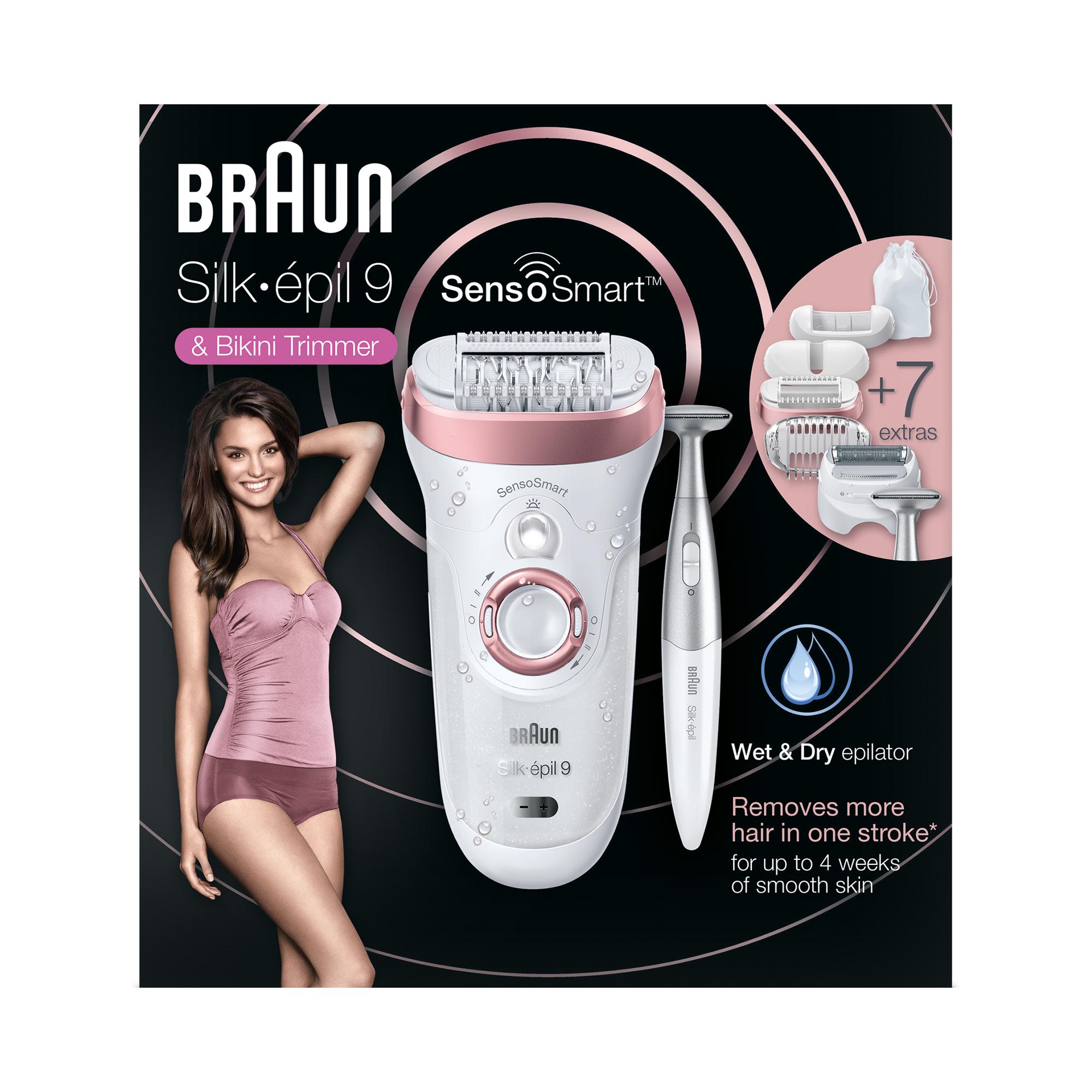 Braun SES 9890 ROSGOWHT BOX MN SensoSmart Epilators