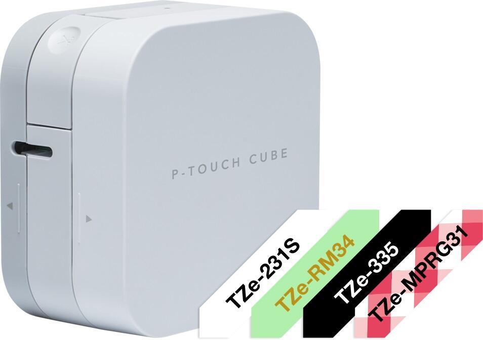 Brother P-touch PT-P300BT Cube starter kit labeling machine (PTP300BTRG2) uzlīmju printeris