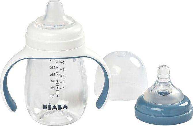 Beaba 2in1 tritan training bottle 210 ml Windy Blue 4m + Beaba piederumi bērnu barošanai