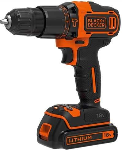 Black&Decker BDCHD18K - black / orange - case, Li-ion battery 1.5Ah