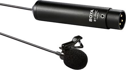 Boya microphone BY-M4C Cardioid XLR Lavalier Mikrofons