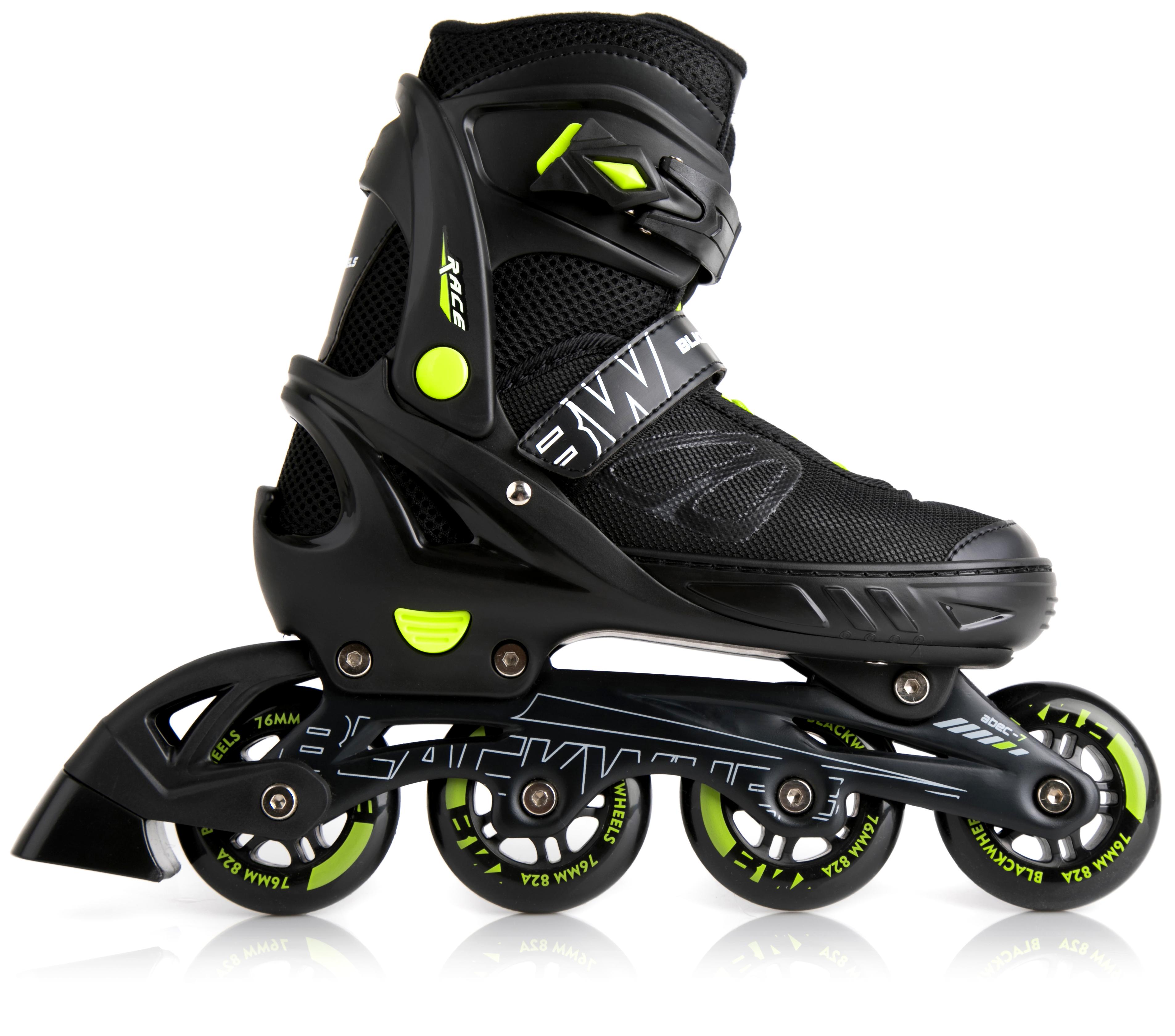 Blackwheels Sonic Green / Black Adjustable Rollers. 40-43 Skrituļslidas