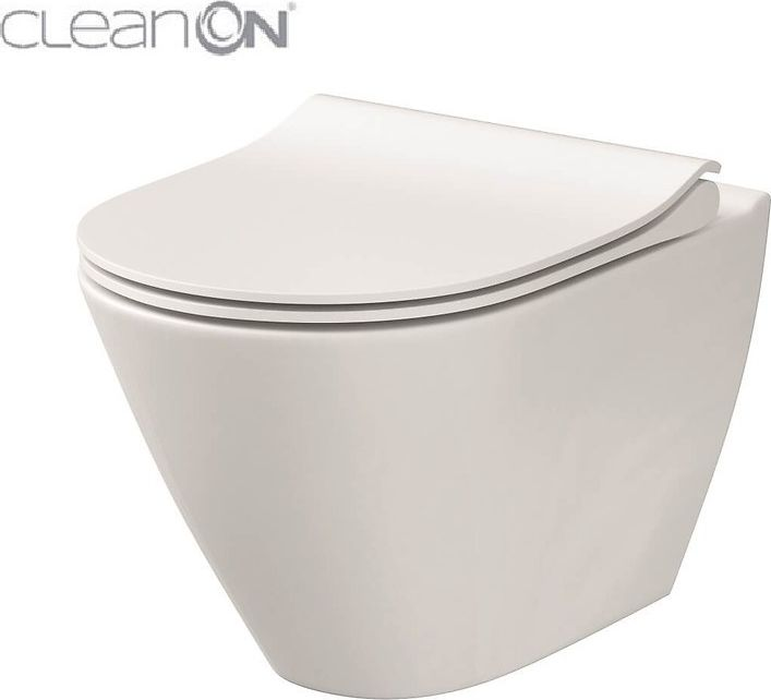 Cersanit City Oval Clean On toilet bowl with soft-close toilet seat (K701-104)