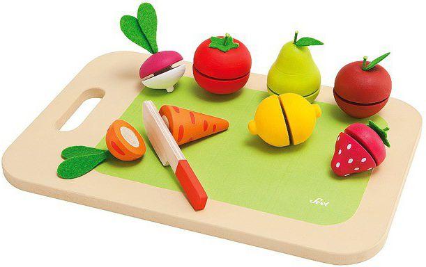 Sevi Drewniana deska do krojenia z owocami i warzywami, 9 el. (82320) 82320