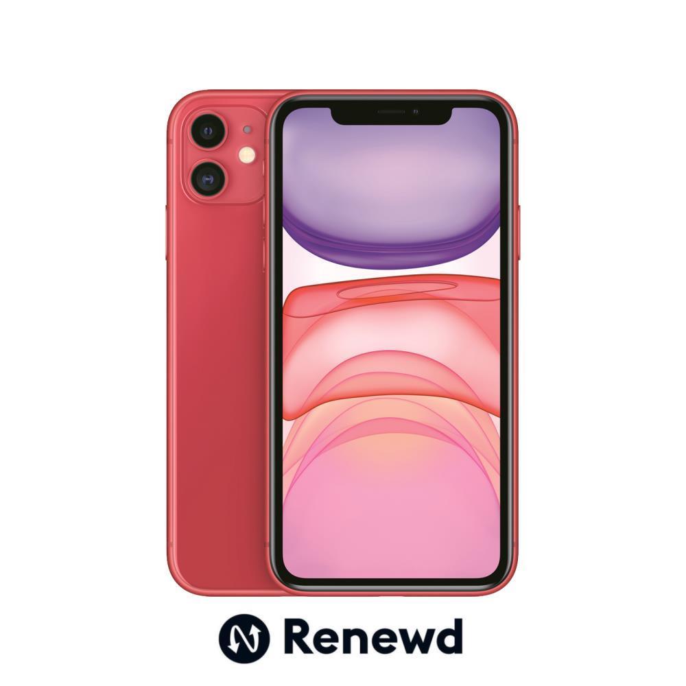 MOBILE PHONE IPHONE 11 64GB/RED RND-P14664 APPLE RENEWD RND-P14664 Mobilais Telefons
