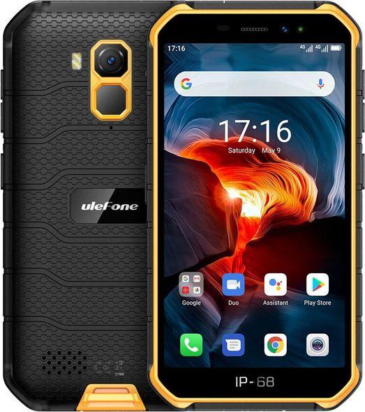 Smartfon UleFone Armor X7 16 GB Dual SIM Czarno-pomaranczowy  (ulefon_20200617170018) ulefon_20200617170018 Mobilais Telefons