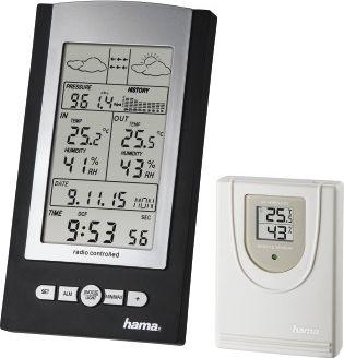 Hama Black Weather Station (EWS-800) barometrs, termometrs