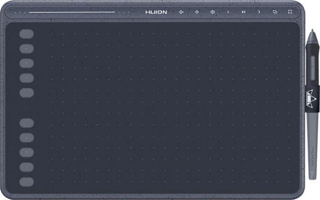 HUION HS611 GREY graphic tablet 5080 lpi 258.4 x 161.5 mm USB Gray grafiskā planšete
