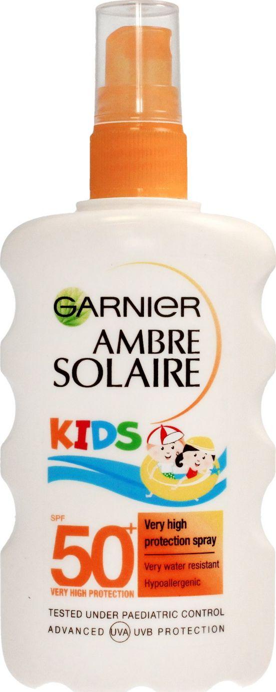 Garnier Ambre Solaire Kids Sensitive Spray SPF50 protective spray for children 200ml kosmētika ķermenim