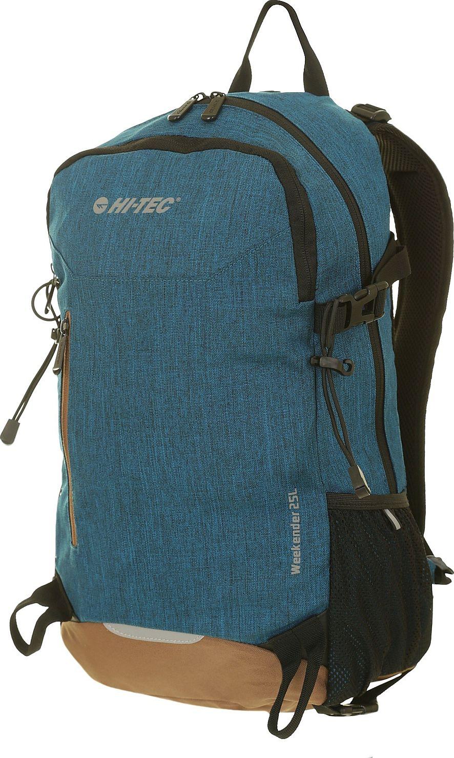Hi-tec Backpack Weekender 25l Blue Melange / Brown Tūrisma Mugursomas