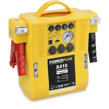POWERPLUS Automašīnas akumulatora palaidējs ar kompresoru 12V 6A