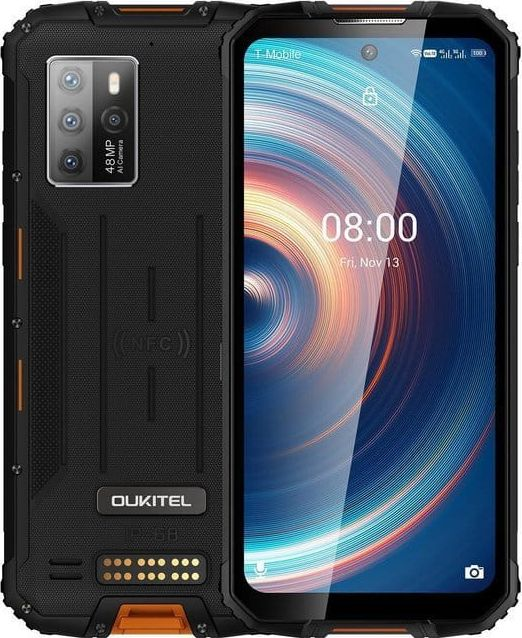 Smartfon Oukitel WP10 5G 128 GB Dual SIM Czarno-pomaranczowy  (oukitel_20210303161338) oukitel_20210303161338 Mobilais Telefons