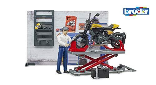BRUDER bworld motorcycle workshop with Scra - 62102 Rotaļu auto un modeļi