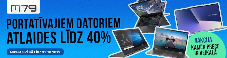 Akcija - izpārdošana portatīvajiem datoriem