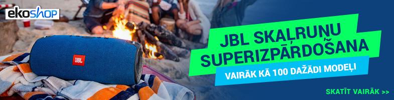 Izpārdošana JBL pārnēsājamiem skaļruņiem